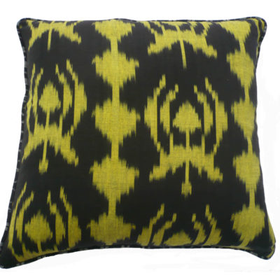 Baroque Ikat reversible cushion