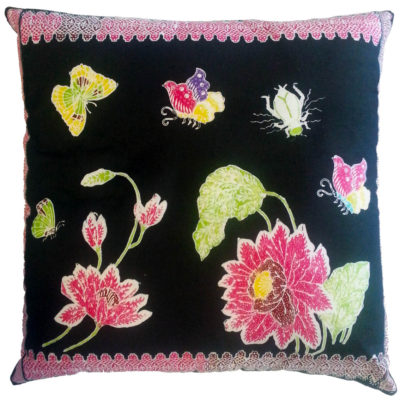 Lotus traditional batik cushion